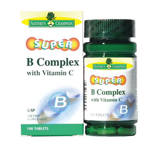 Nature's Champion Super Vitamin B-Complex + C