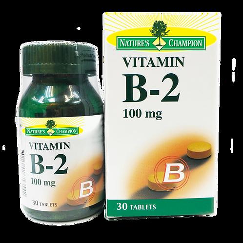 Nature's Champion Vitamin B2 100mg 30s