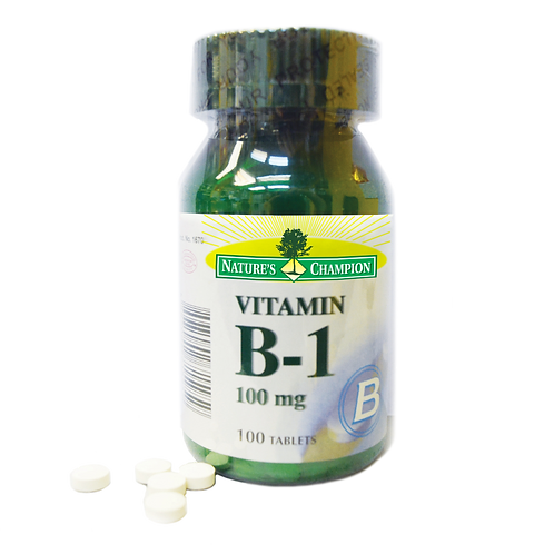 Nature's Champion Vitamin B1 100mg