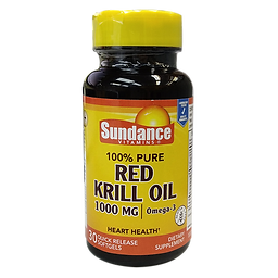 Sundance Red krill Oil 1000mg 30s cover.