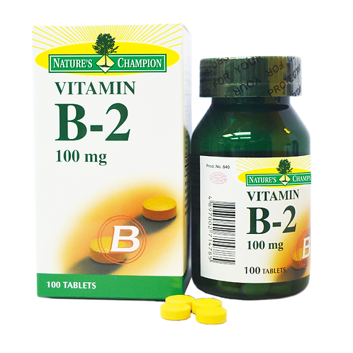 Nature's Champion Vitamin B2 100mg 100s