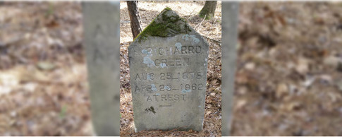 Old tombstone for Richard Green