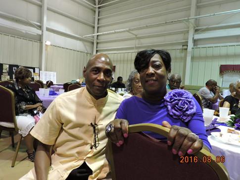 Melvin with Helen Glover, Mayor of St. Matthews