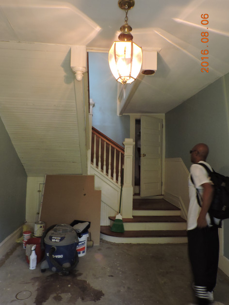 Hallway before renovations
