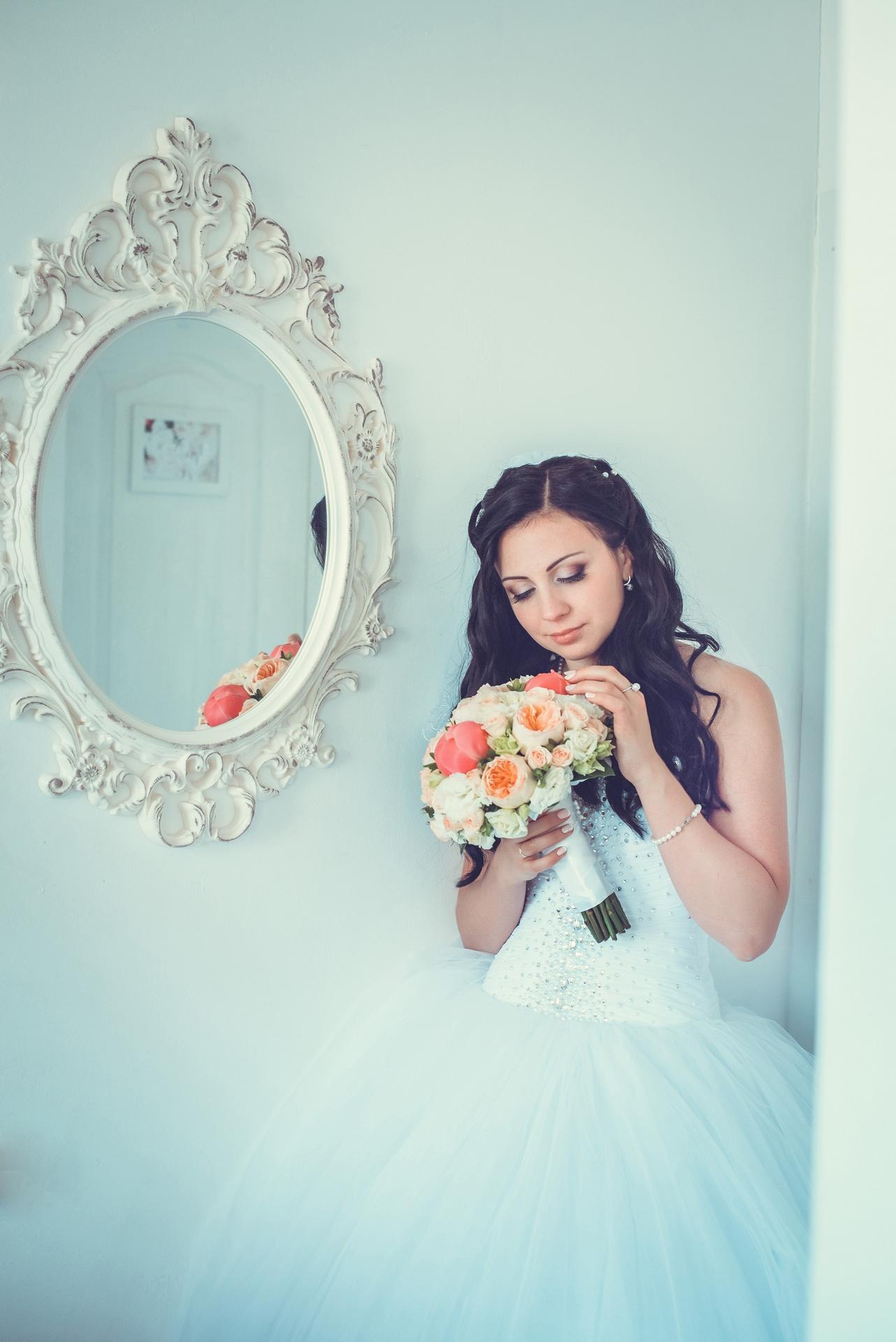 нежное свадебное фото