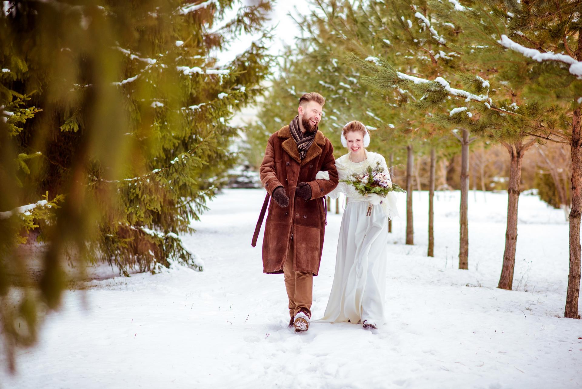 фото свадьбы зимой