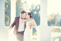 солнечное фото свадьбы