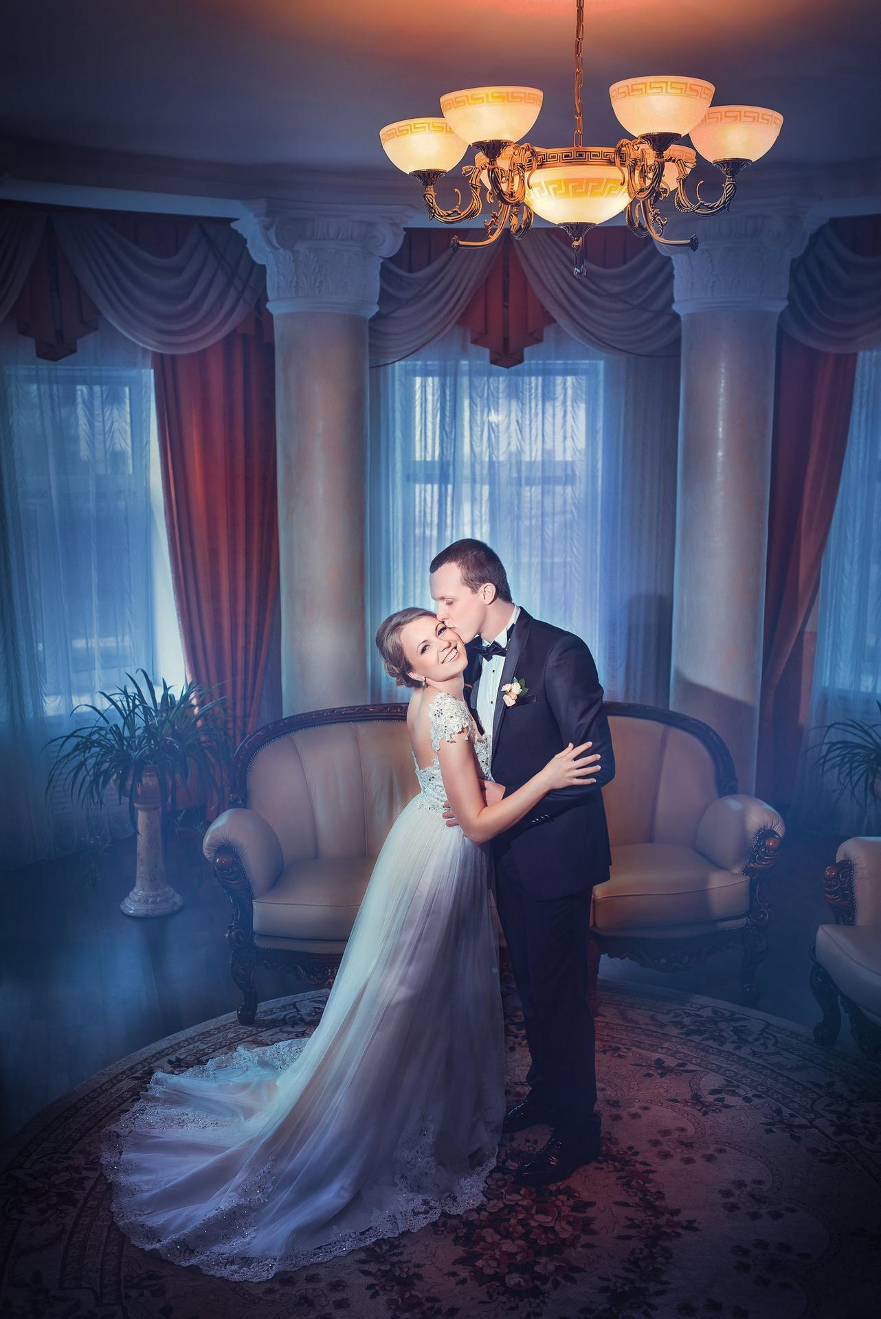 необычное свадебное фото