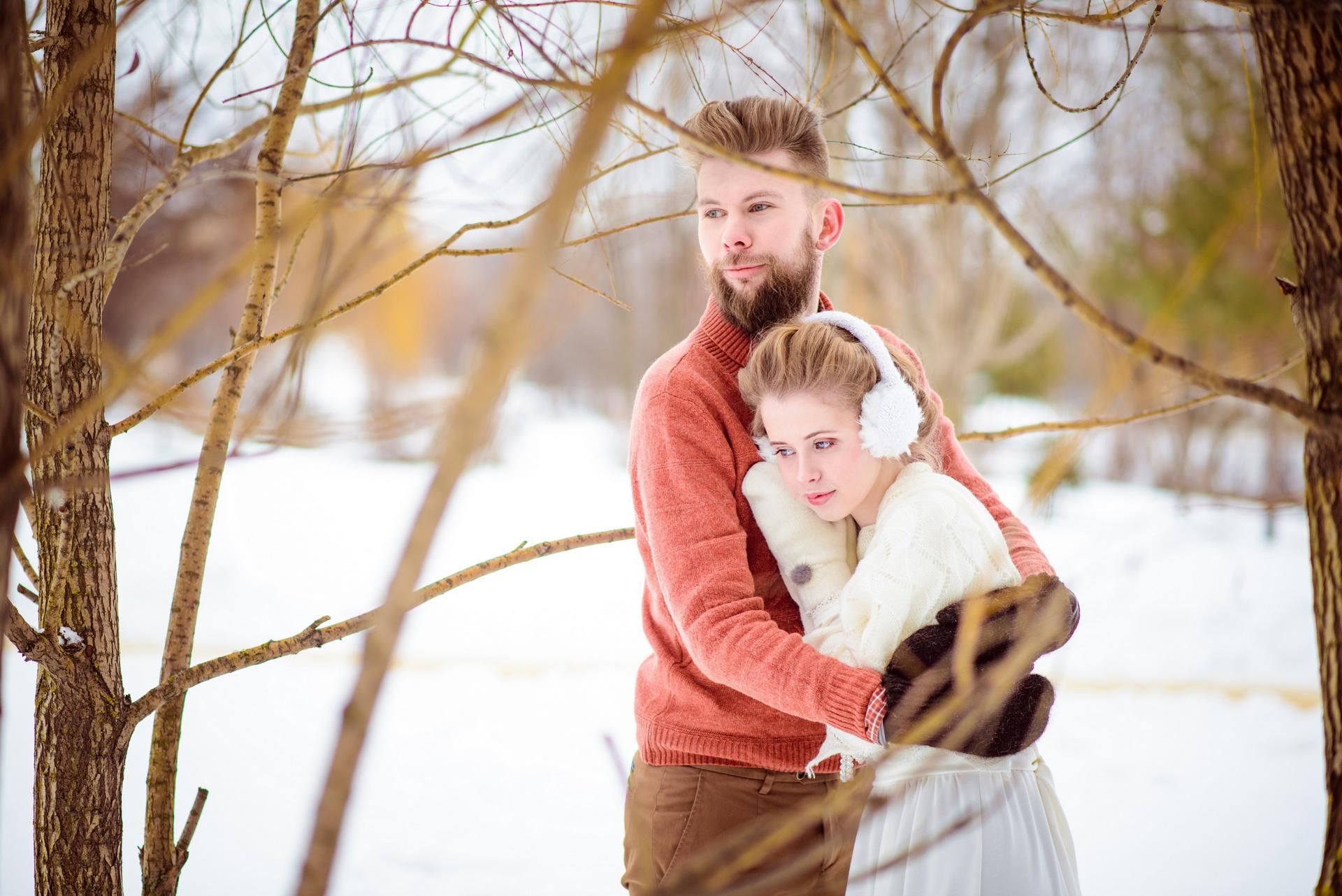 нежная свадебная пара