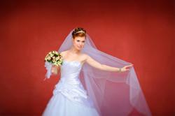 яркое свадебное фото