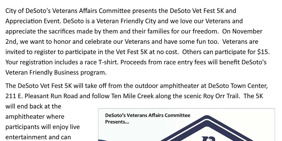 DeSoto VET FEST 5K - Veterans Appreciation Ceremony