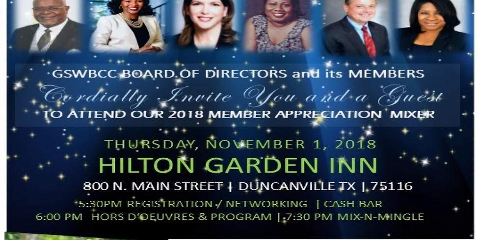 Greater Southwest Black Chamber of Commerce 2018 Member Appreciation Mixer