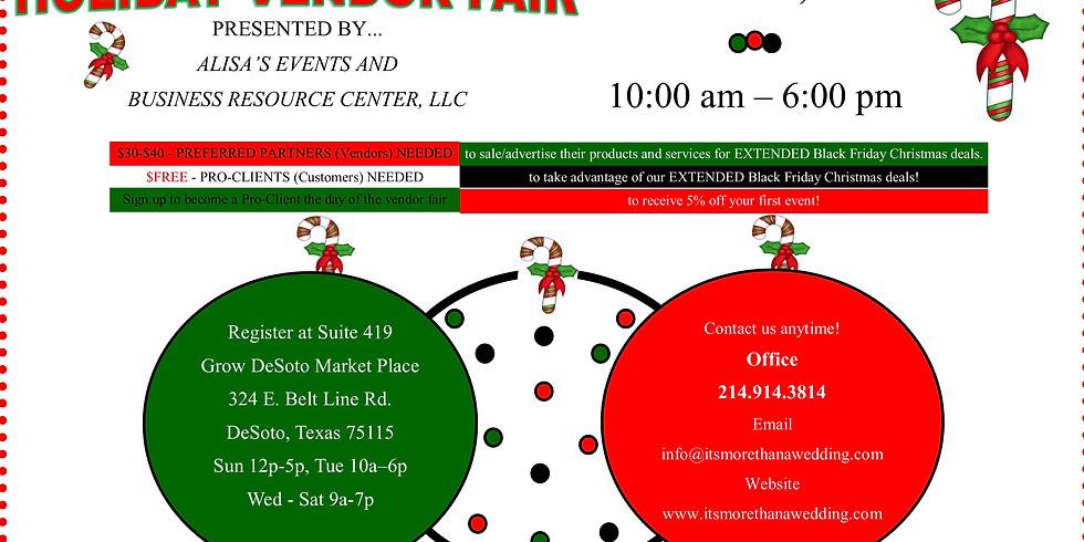 Holiday Vendor Fair - Alisa's Events