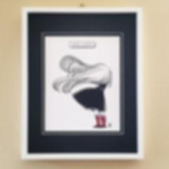 """Windy Welly Girl Series """"Red Boots"""" Illustration Art Print (A4)"""