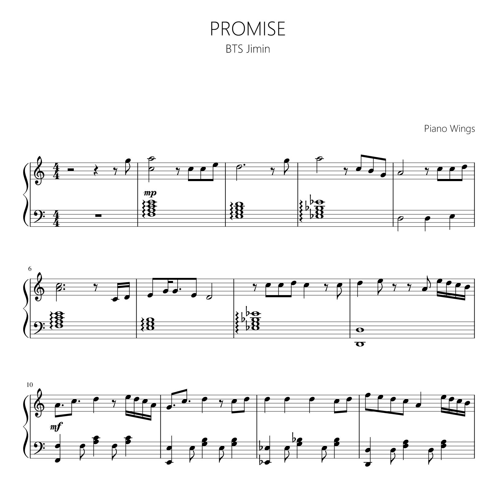 Bts Jimin Promise Piano Tutorial Gastronomia Y Viajes