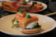 Full English Breakfast Bed & Breakfast at Chagford Dartmoor delicious salmon poached egg homemade