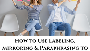 How to Use Labeling, Mirroring & Paraphrasing to Engage, Influence & Negotiate