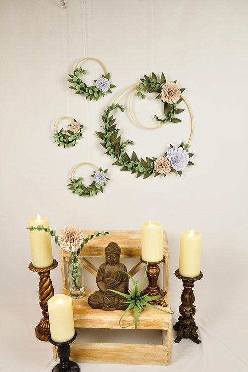 Quatuor cerceaux floraux Fleurigami