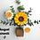 Thumbnail: Bouquets aimantées sur cube de bois