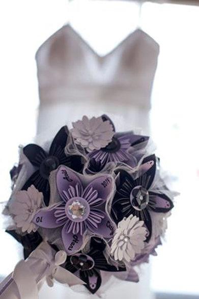 Bouquet de fleurs en papier Fleurigami