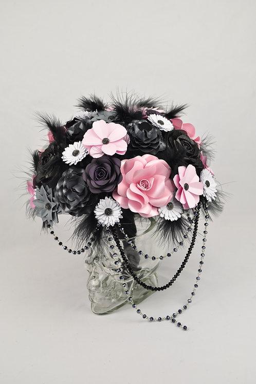 Bouquet mariage gothique glamour