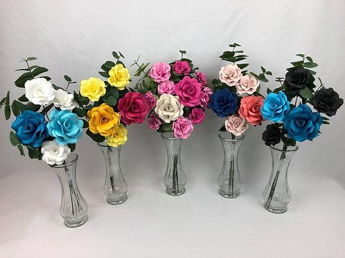 bouquet de roses en papier