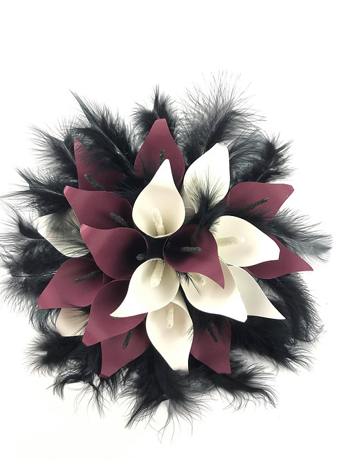 Bouquet de Lys de Calla en papier