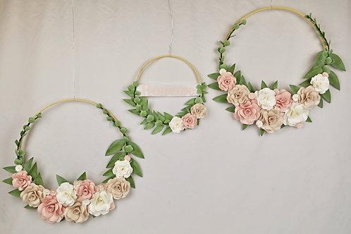 Cerceaux floraux Fleurigami