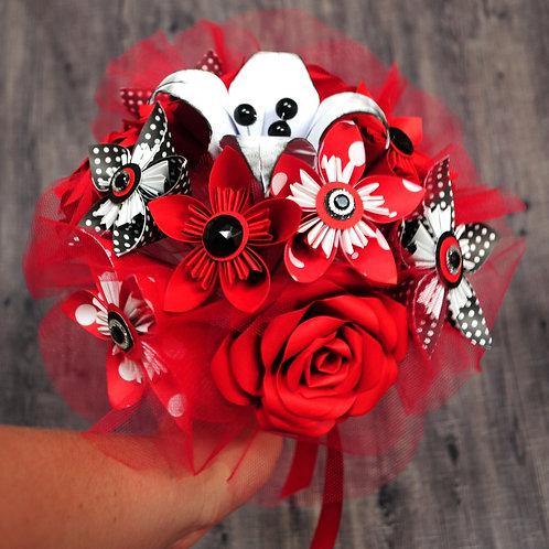 Bouquet de fleurs rockabilly Fleurigami