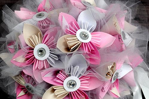 Bouquet de fleurs origami Fleurigami