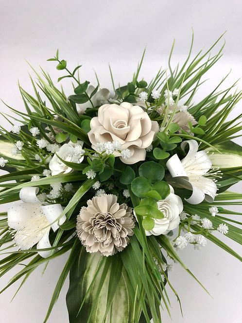 Centre table fleurs en papier