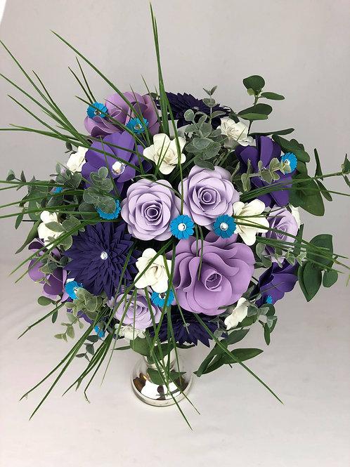Bouquet bohème mauve Fleurigami