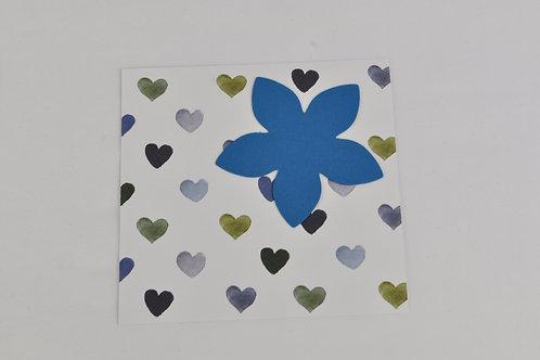 Boîte créative ANNA DIY fleurs en papier motif coeur