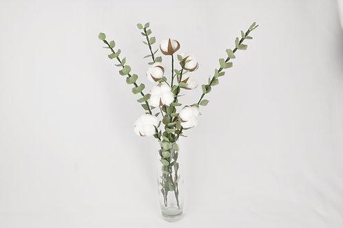 Bouquet eucalyptus et fleur de coton - Zénitude