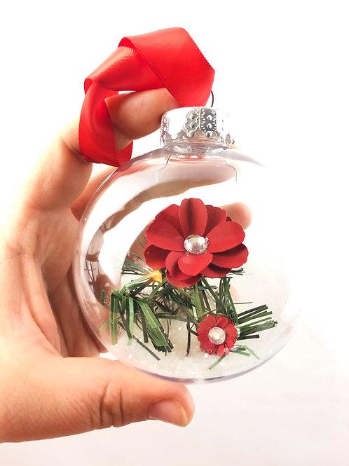 Boule de Noël Fleurigami