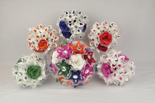 Ensemble bouquets colorés Fleurigami