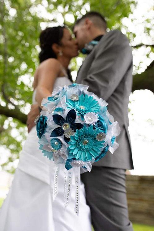 Bouquet de mariage Fleurigami en papier