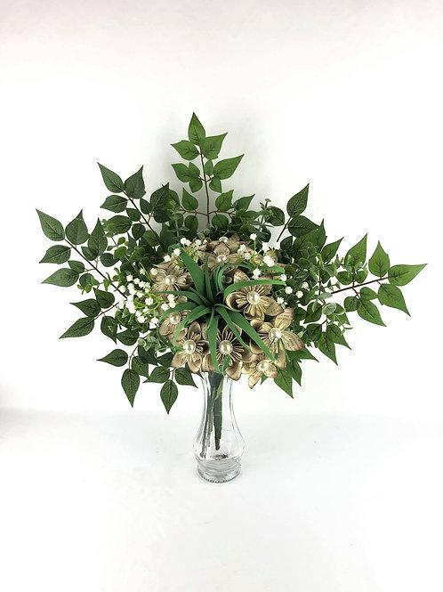 Bouquet de fleurs en papier de livre