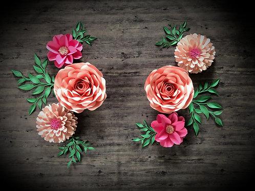 Grosse fleurs géantes décoratives