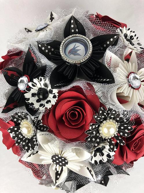 Bouquet de fleurs rockabilly