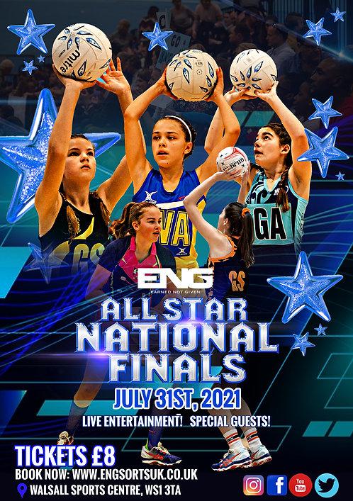 ENG All Star Netball National Finals - Player Registration