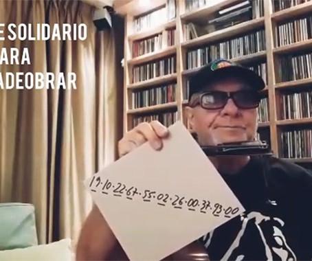 León Gieco se sumó a la campaña de donaciones de Hora de Obrar