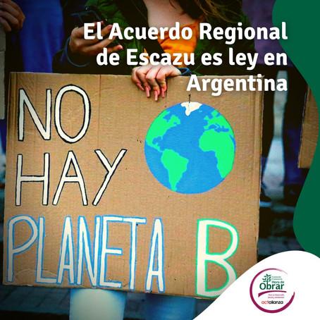 Diputados convirtió en ley el Acuerdo Regional de Escazú sobre asuntos ambientales