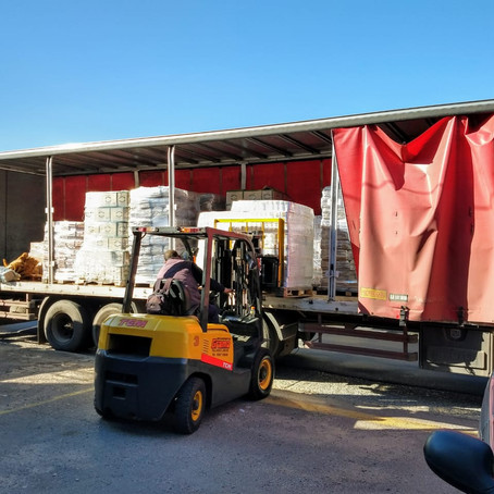 Ya entregamos 43 toneladas de alimentos y productos de higiene