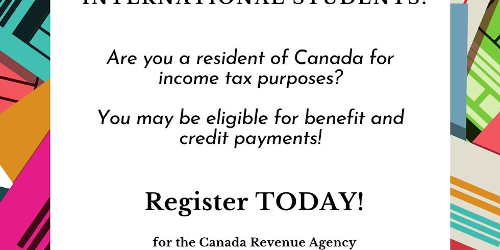 Canada Revenue Agency Presentation for International Students