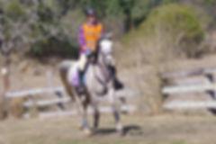 Leanne Holz riding Blake's Heaven Hiraan