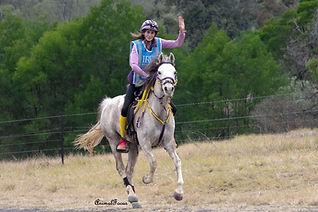 Fia Hasko-Stewart riding Blake's Heaven