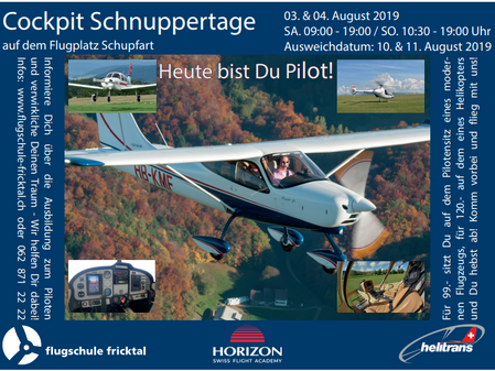 Cockpit Schnuppertage 2019