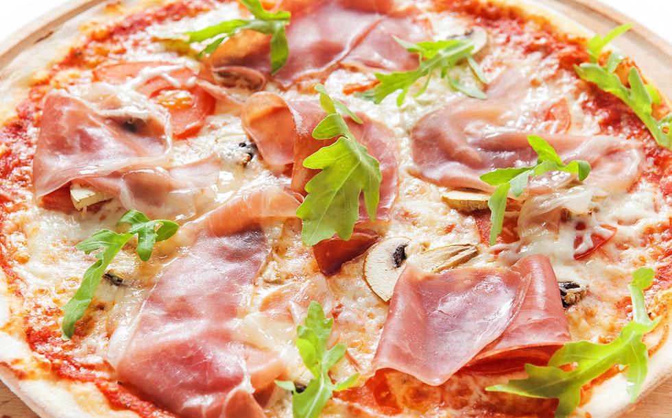 Cъемка пиццы