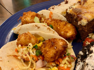 Rain, Coconut Halibut Tacos and Carrots Cake...oh my!